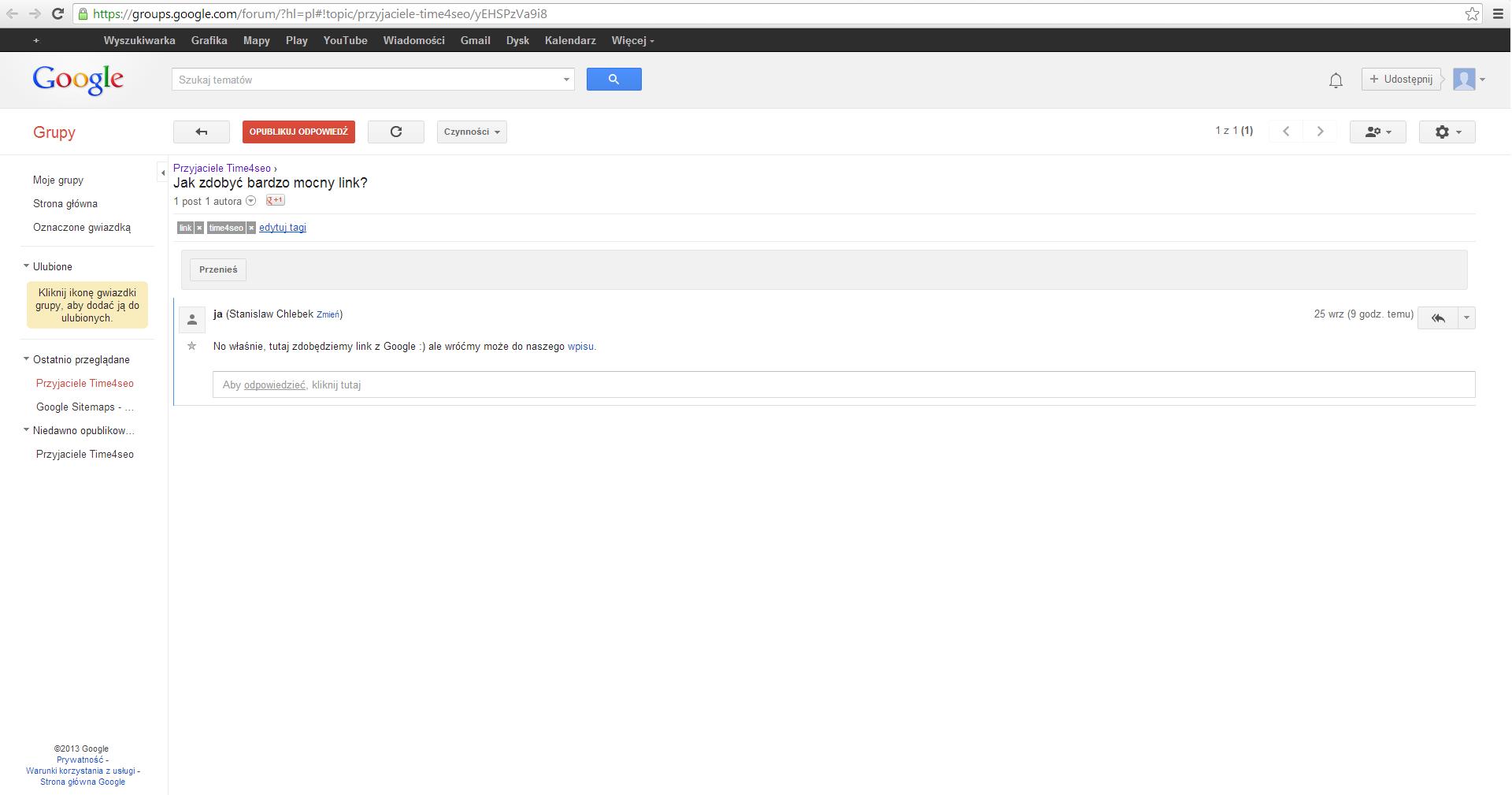 link z Google Grupa